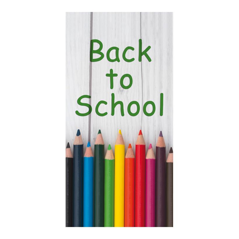 """# Motivdruck """"Back to school"""", 180x90cm Stoff"""