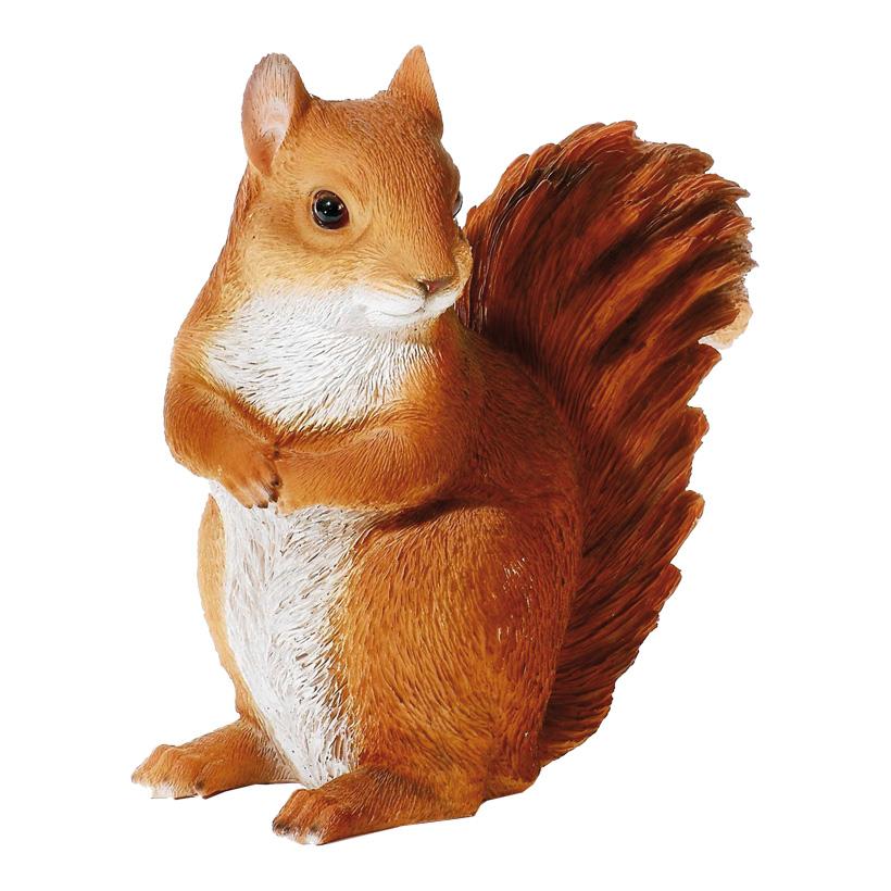 # Eichhörnchen 31x18x33cm aus Kunstharz, witterungsbeständig