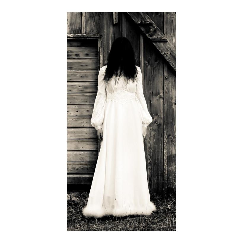 "# Motivdruck ""Scary Woman"", 180x90cm Stoff"