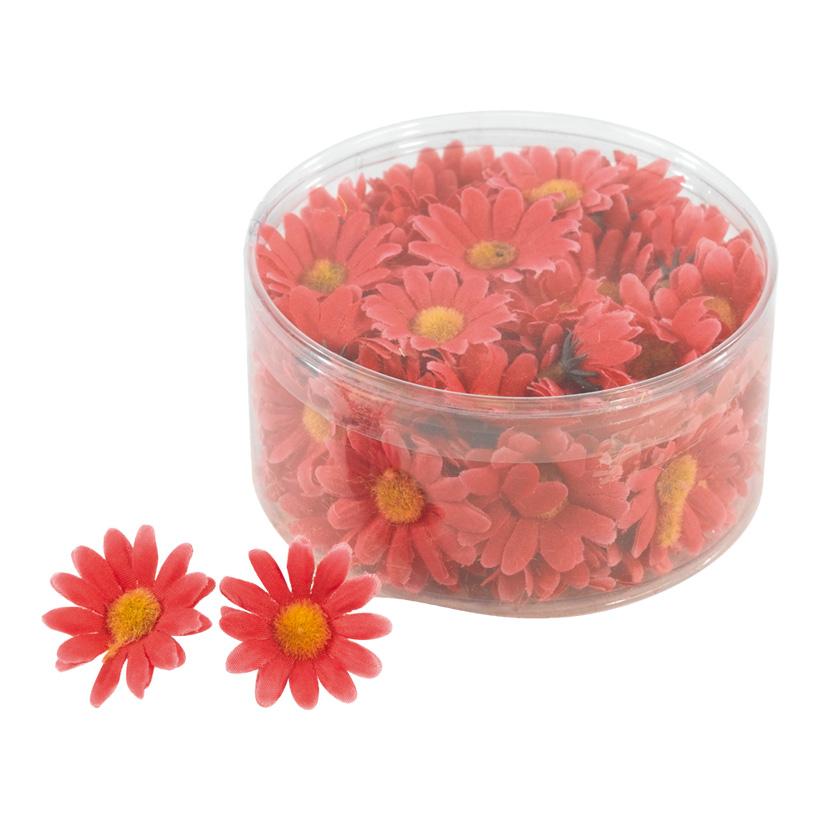 Margeritenblüten, 3,5cm, 100Stck./Blister, Kunstseide