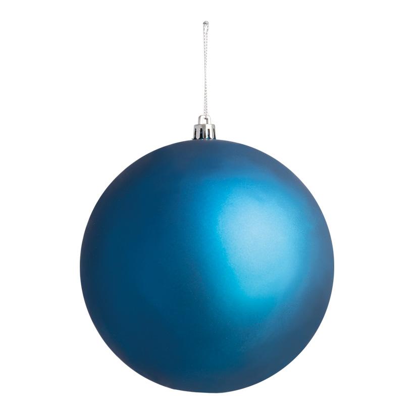 Weihnachtskugel, mattblau, Ø 14cm, nahtlos, matt