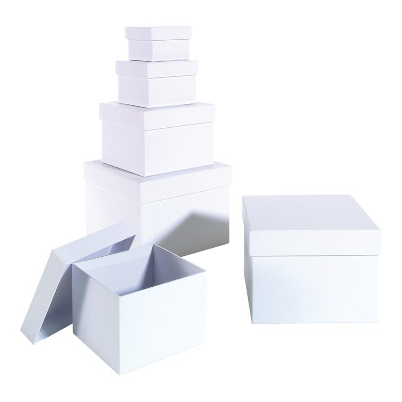 Geschenkkartons, quadratisch, 18x18x13cm ñ 8x8x5,5cm, 6 Stk./Satz
