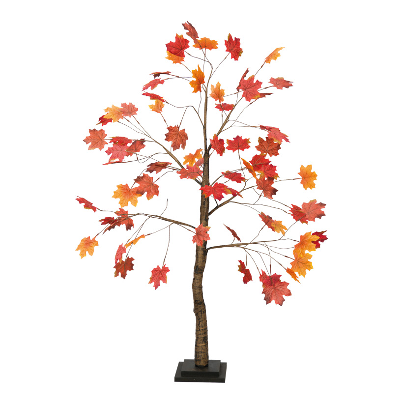 Ahornbaum, 120cm Stamm aus Holz, Blätter aus Kunstseide Holzfuß: 17x17x2cm
