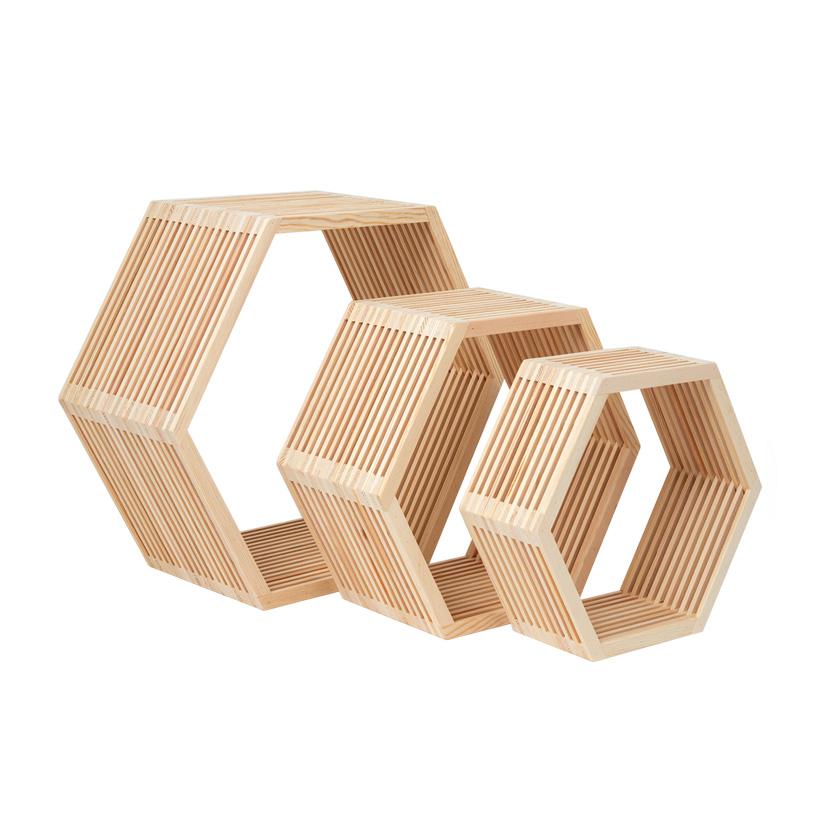 # Holzpräsenter, 42x37x18cm, 33x28x15cm, 28x25x10cm, im 3er-Set, ineinander passend