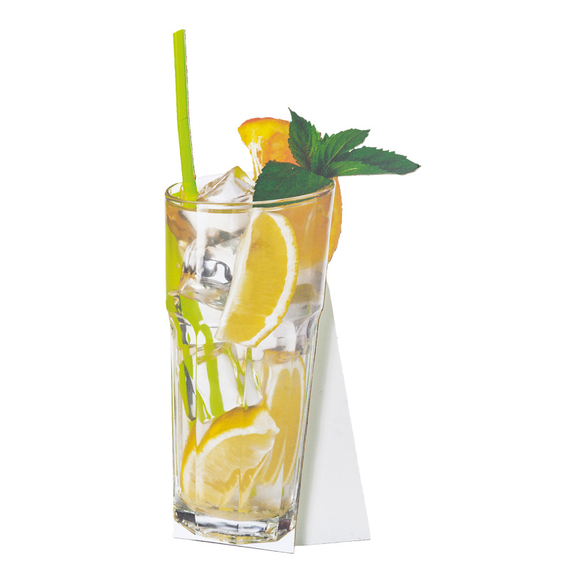 """# Cut-out """"Cocktail 1"""", 41x75cm, mit klappbarer Pappstütze, aus Pappe"""