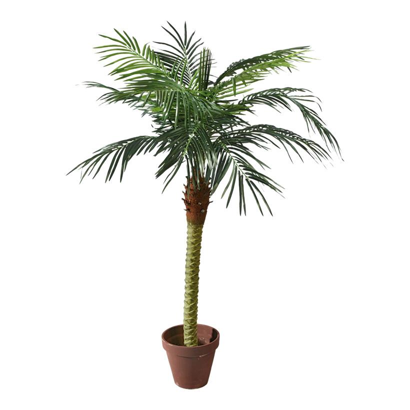 # Phoenix-Palme im Topf, 180cm, 11-fach, 523 Blätter, Kunststoff, Kunstseide