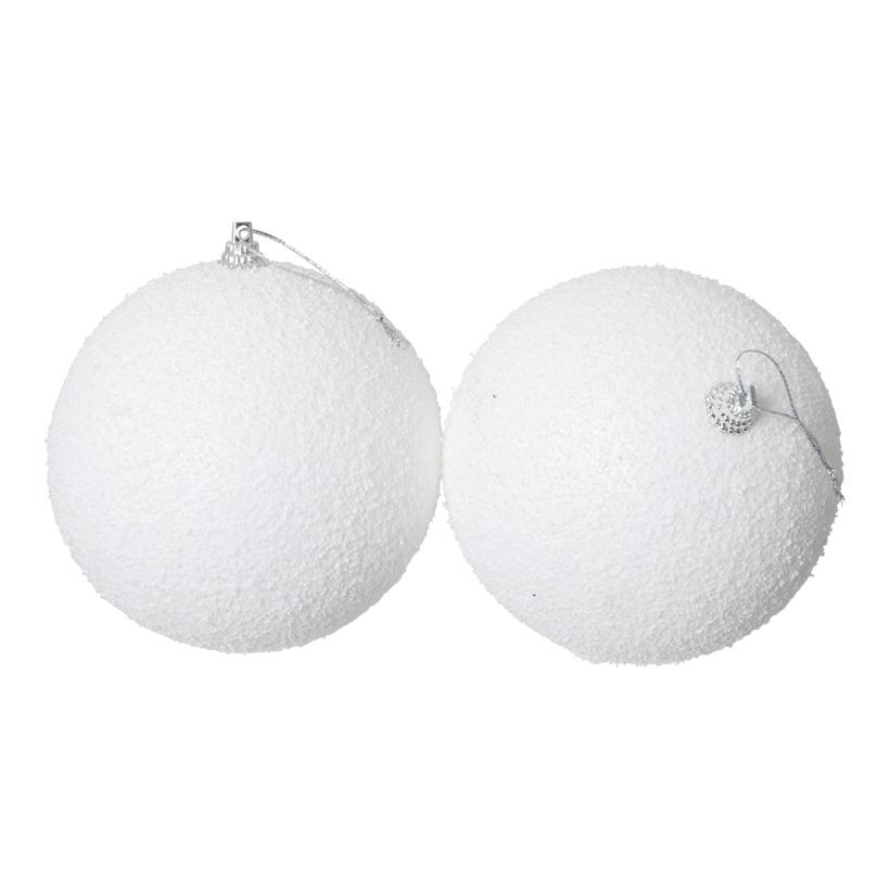 Schneekugeln, Ø 10cm, 2Stck./Blister, mit Hänger, Styropor