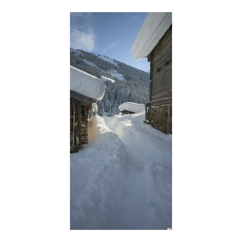 "# Motivdruck ""Bergwinter"", 180x90cm Stoff"