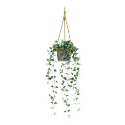 # Hängepflanze 80 cm lang, Ø 20 cm Textil/Kunstseide, im Metalltopf