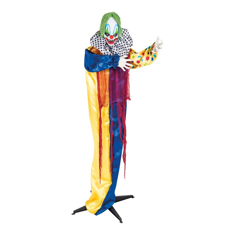 Horrorclown, auf  Ständer, 170cm beweglich, mit Licheffekten