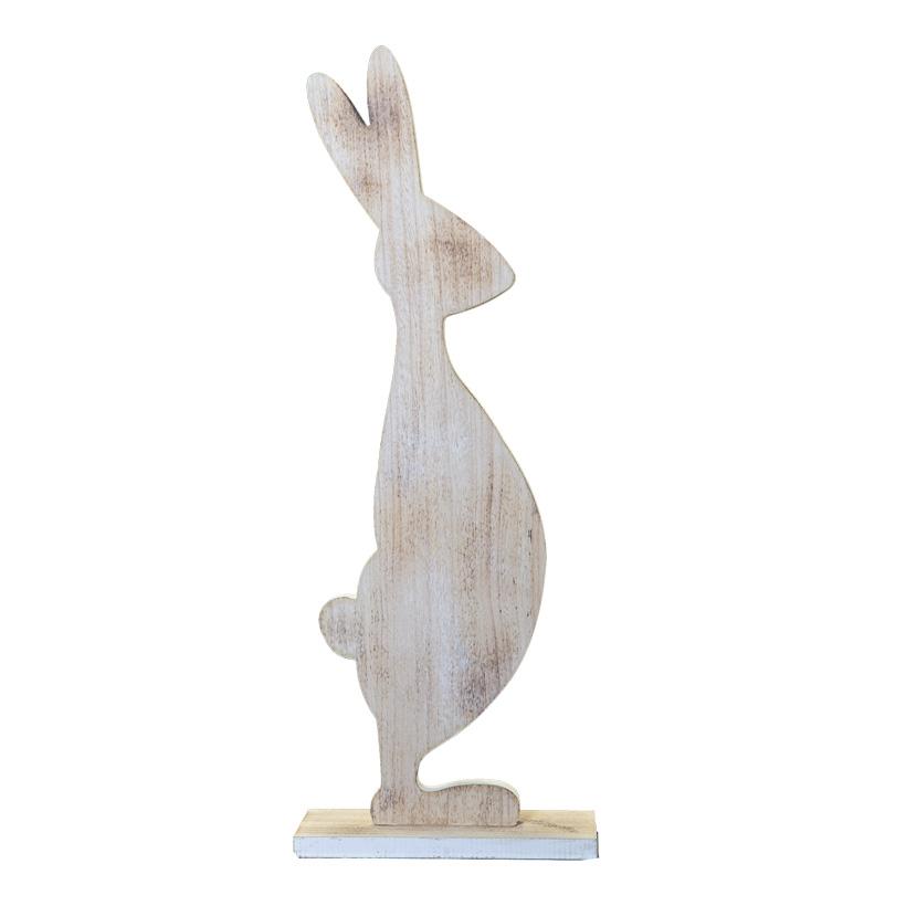 Hase, 80x30cm stehend, mit Standplatte, aus Holz