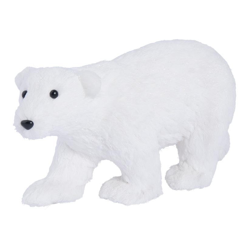Eisbär, laufend, 39x20cm Styropor und Holzfaser