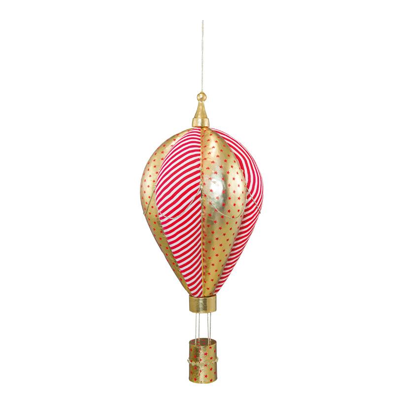 Heißluftballon, 125x50x50cm aus Styropor, mit Stoffüberzug, mit Hänger