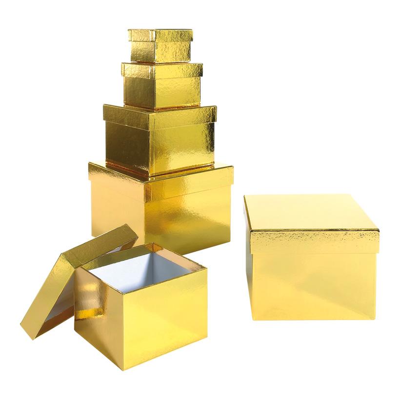 Geschenk-Kartonagensatz, 8x8x5,5cm - 18x18x13cm, 6tlg., quadratisch
