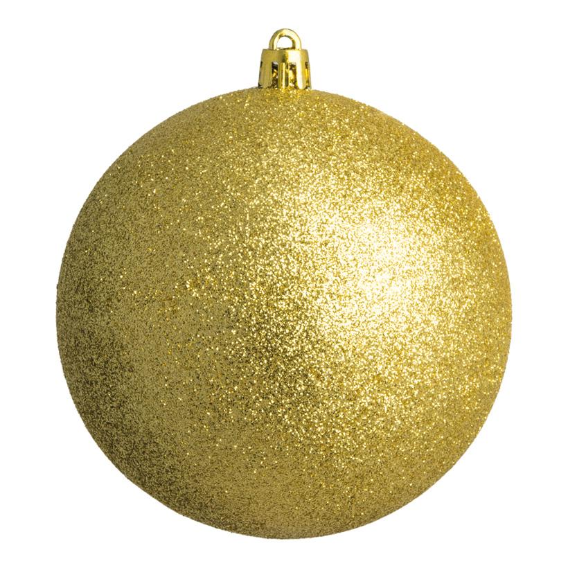 Weihnachtskugel, gold glitter, Ø 10cm