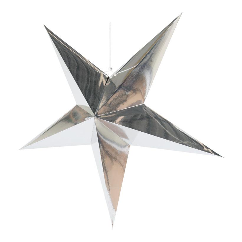 Faltstern, 5-zackig, Ø 90cm aus Pappe, mit Hänger