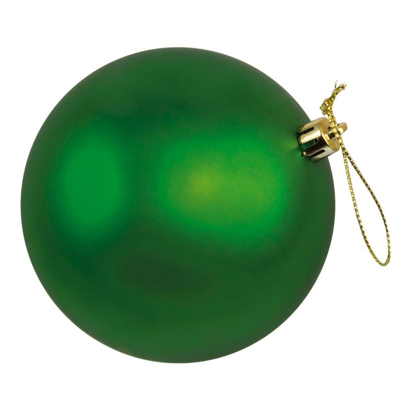 Weihnachtskugel, mattgrün, Ø 8cm, 6Stck./Blister, nahtlos, matt
