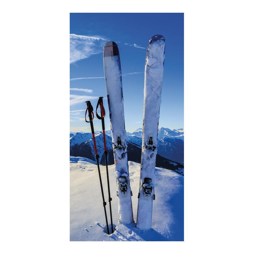 "# Motivdruck ""Bergski"", 180x90cm Stoff"