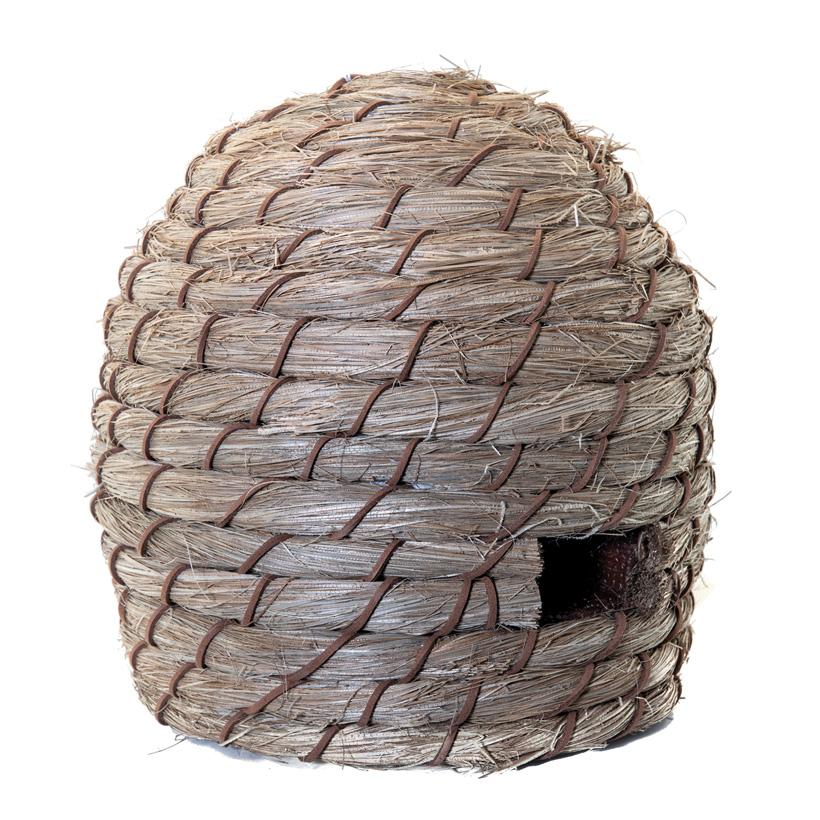 Bienenkorb, H: 22cm Ø: 21cm aus Styropor & Kunstfaser