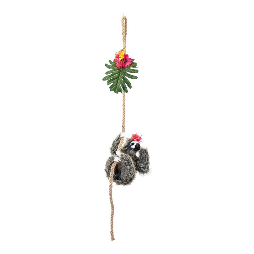 Seilgirlande, L: 100cm dekoriert mit Blumen, mit kletterndem Faultier