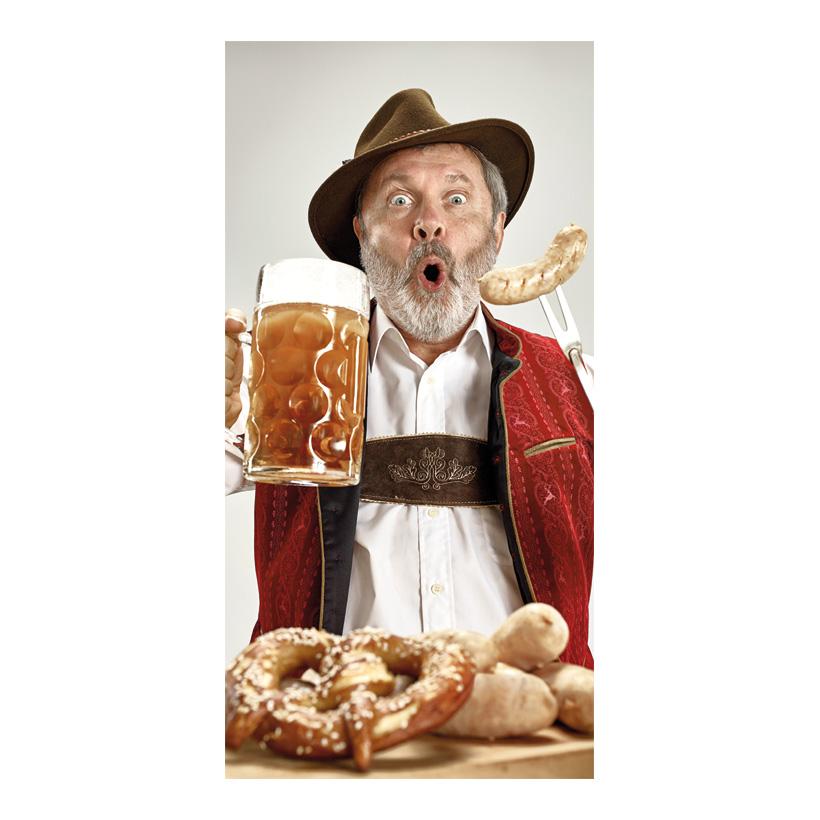"""# Motivdruck """"Bayer mit Bierkrug"""", 180x90cm Stoff"""