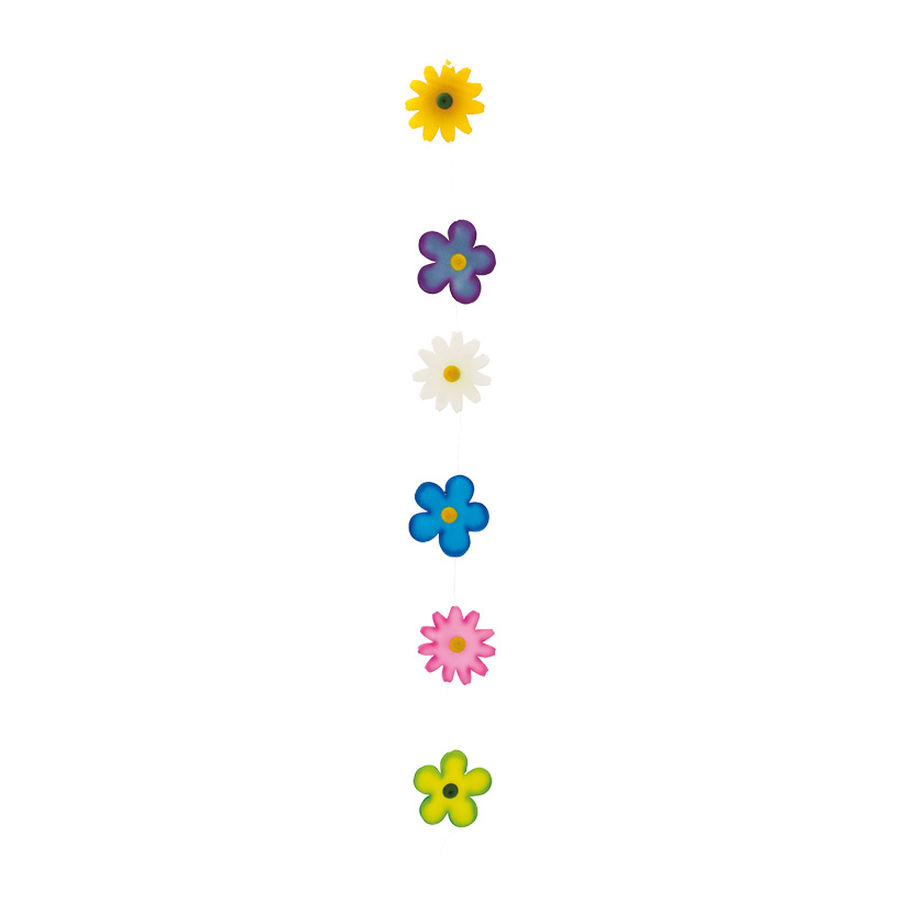 # Sommerblumengirlande 250 cm lang, Schaumstoff, 6 Blüten je 15 cm Ø