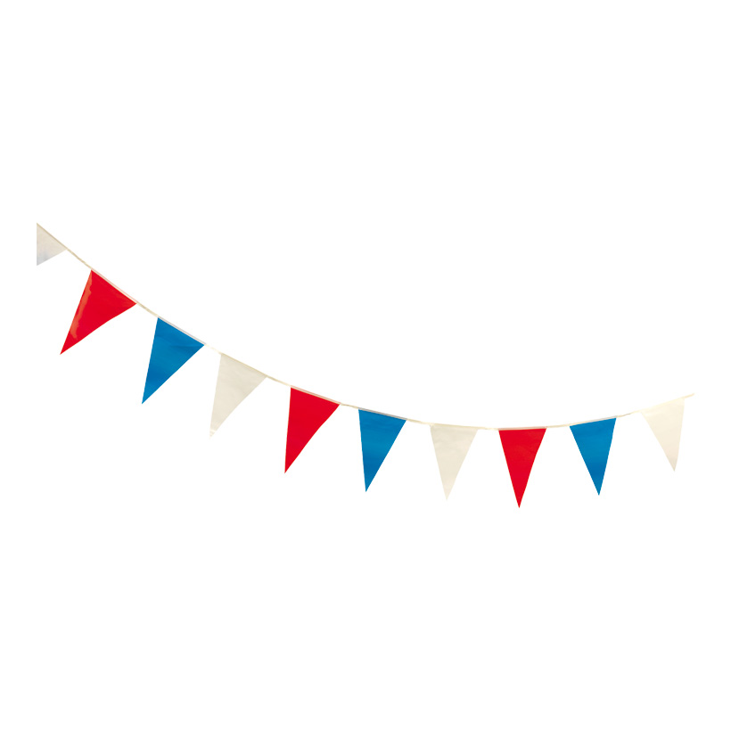 """# Wimpelkette """"Frankreich"""", 27x400cm, 16-fach, wetterfest, PVC"""