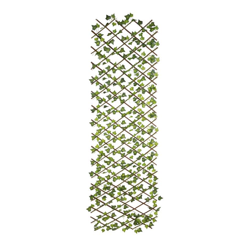 Zaun mit Efeu, 160x60cm, Kunststoff