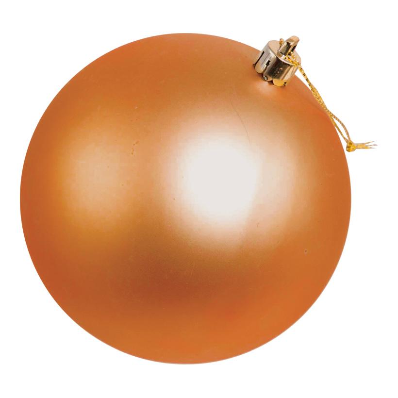 Weihnachtskugel, mattkupfer, Ø 14cm, nahtlos, matt
