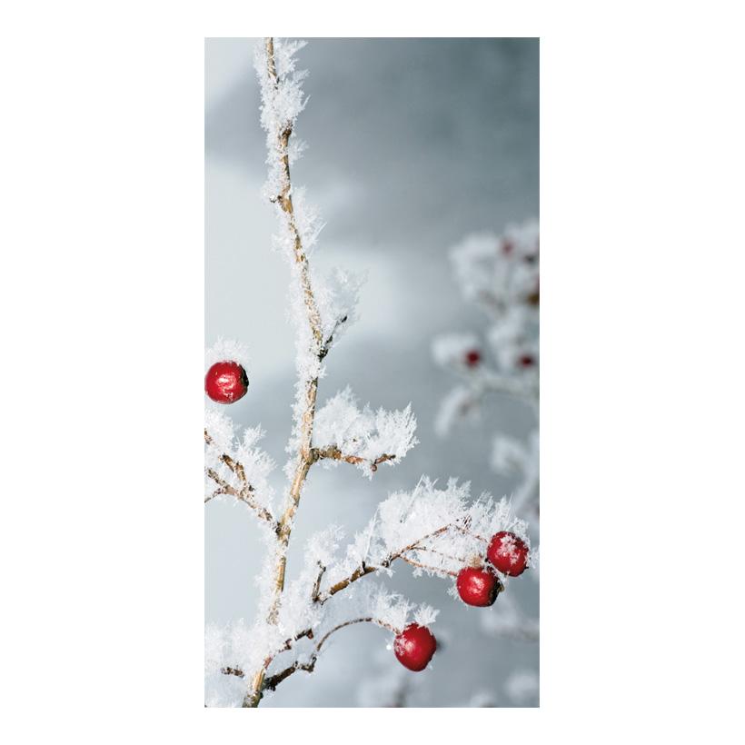 """# Motivdruck """"Beerenzweig Frost"""", 180x90cm Papier"""