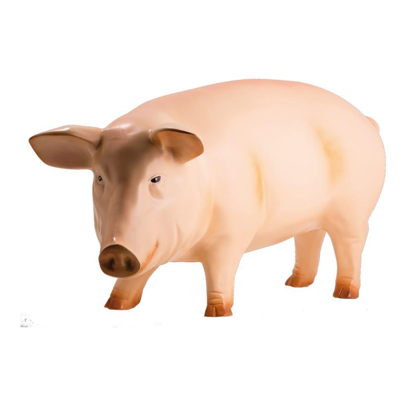 # Schwein, 90x40cm, Kunstharz