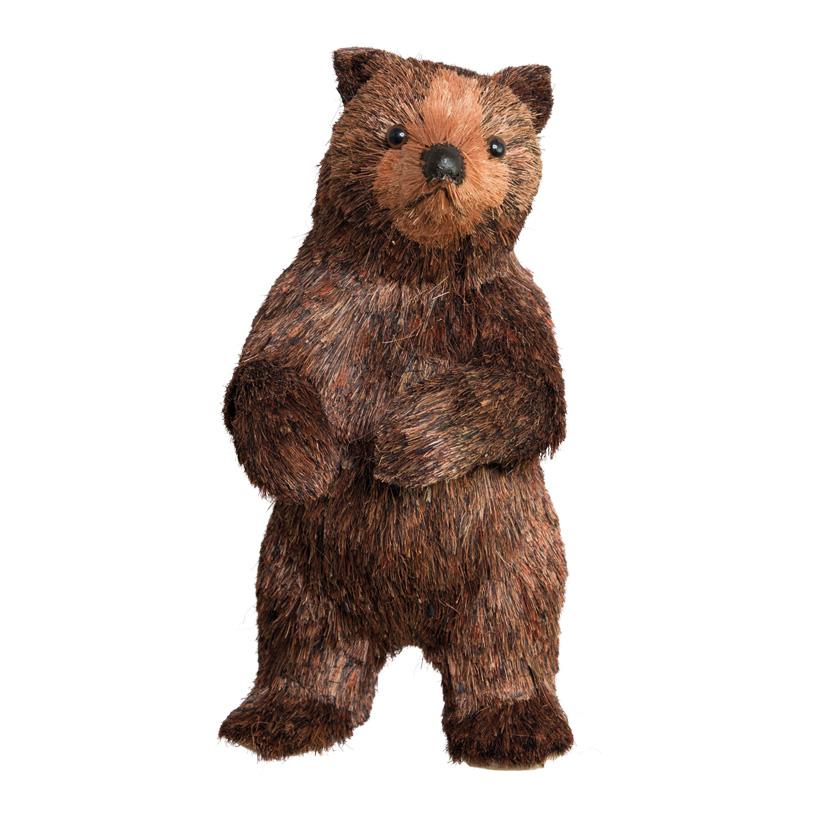 Bär, 22x22x40cm, stehend, Styropor+Holzfaser