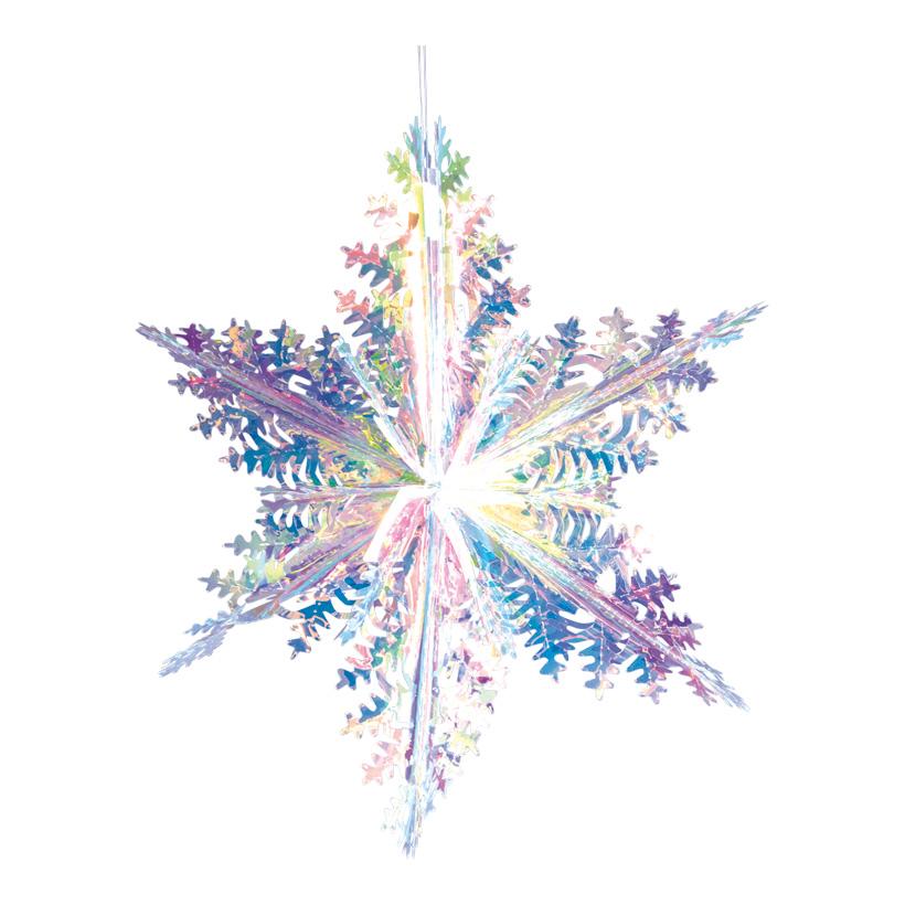 Eiskristall, Ø 40cm faltbar, mit Hänger, holografisch
