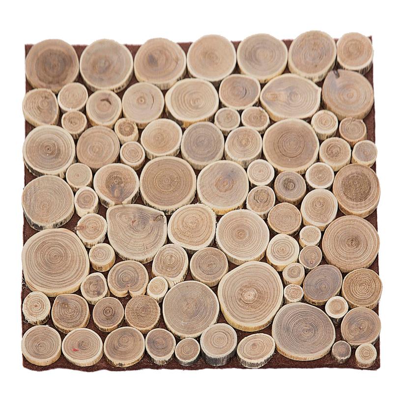 Holzscheibenmatte, 35x35cm