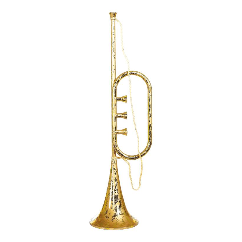 Trompete aus Kunststoff, ca. 80x20cm