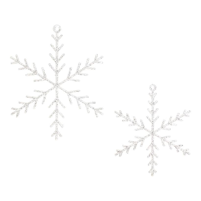 Eiskristall , 2-fach, mit Glitter,  Ø 20 und 25cm