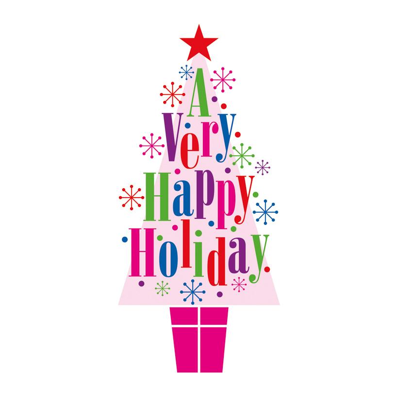 """# Motivdruck """"Happy Holiday"""", 180x90cm Stoff"""