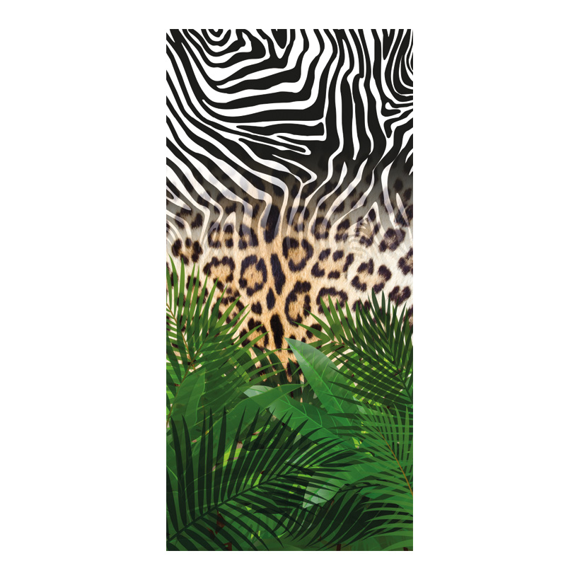 "# Motivdruck ""Animal Jungle"", 180x90cm Stoff"