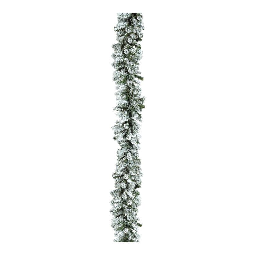 Edeltannengirlande, 270cm Ø20cm 200 Tips, beschneit