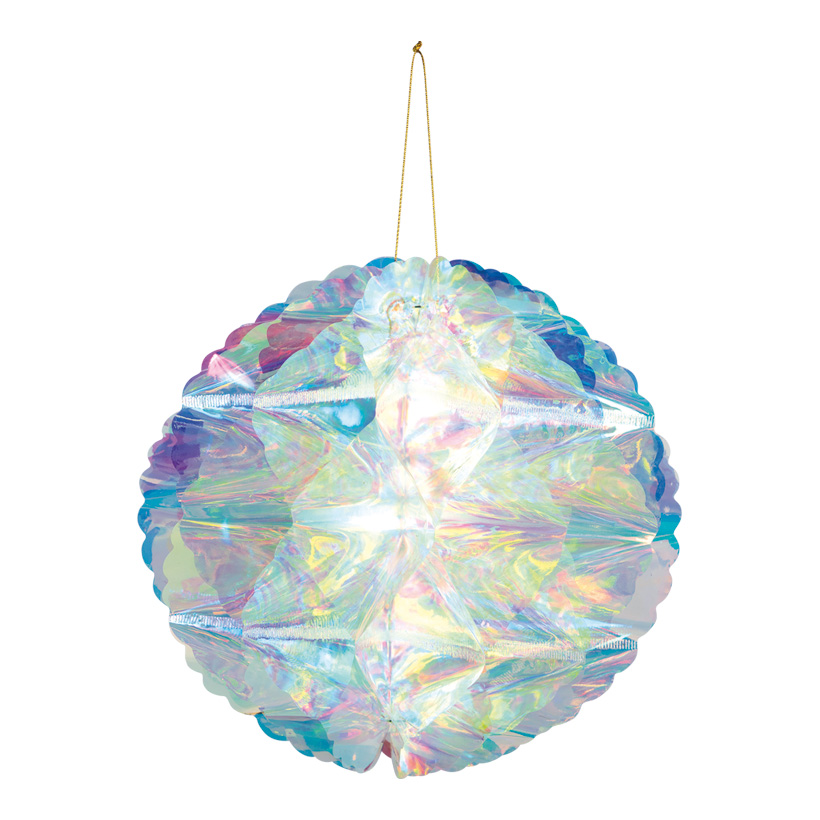 Wabenball, Ø 30cm faltbar, mit Hänger, holografisch
