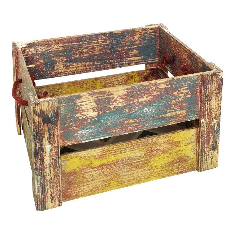 # Lattenkiste 30x32x23 cm Holz, gewischt
