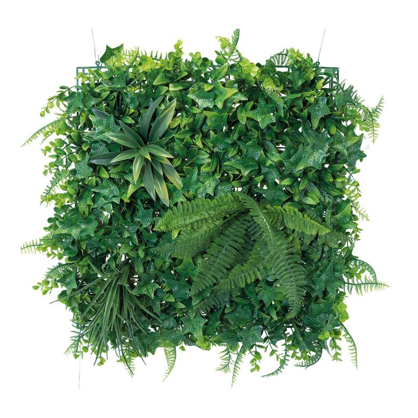 Blätterpaneel, 50x50cm mit Blattdeko