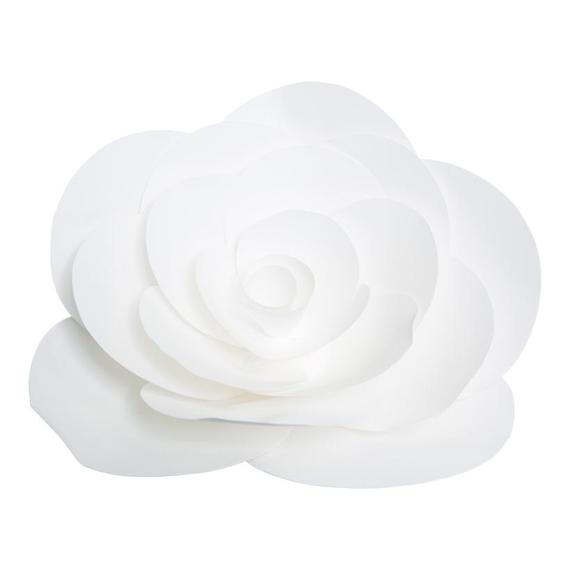 Rose aus Papier, Ø 30cm, mit Draht zum Hängen