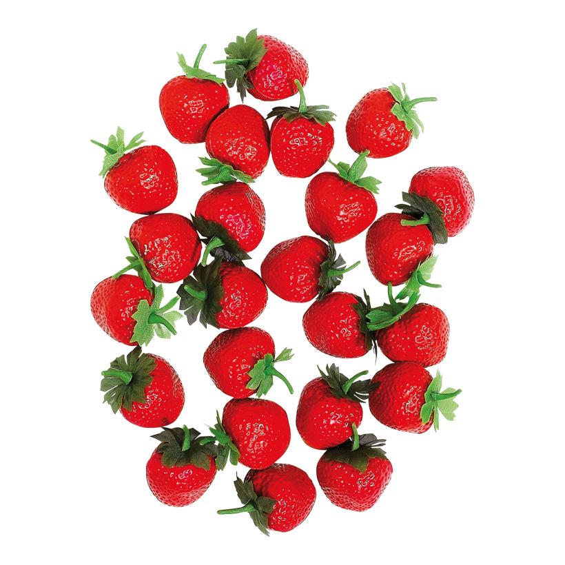 # Erdbeeren Ø 4 cm Kunststoff, 24 Stck./Box