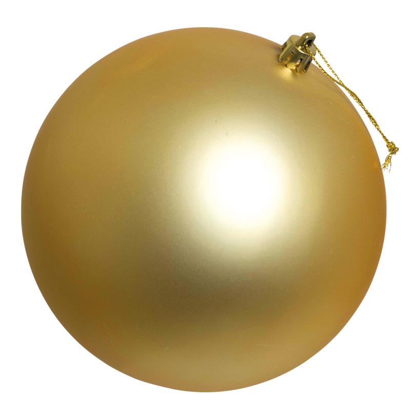 Weihnachtskugel, mattgold, Ø 14cm, nahtlos, matt