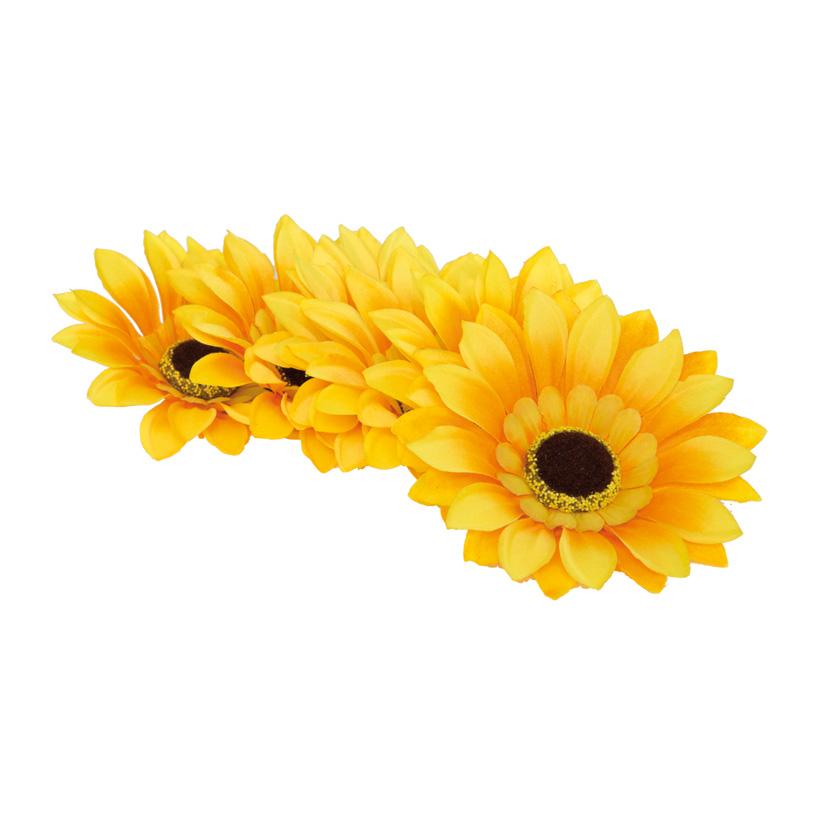 Sonnenblumenblüten, Ø 12cm, 8Stck./Btl., Kunstseide