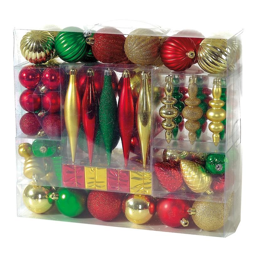 Weihnachtsdekoset 88-teilig, 88-fach, Kunststoff