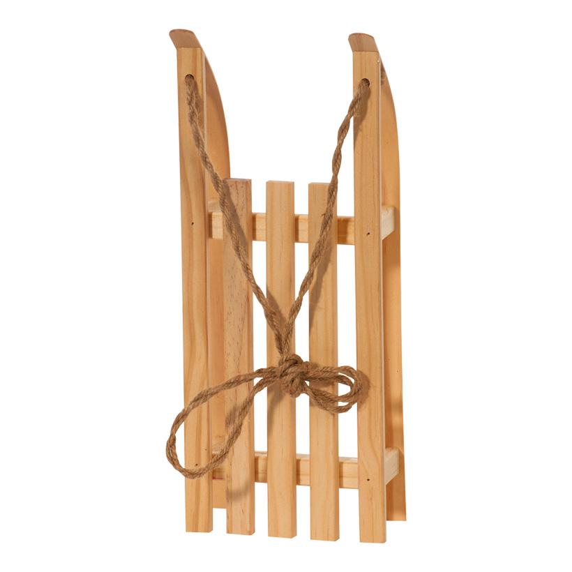 Deko-Schlitten, 38x15x9cm, Holz, mit Ziehschnur