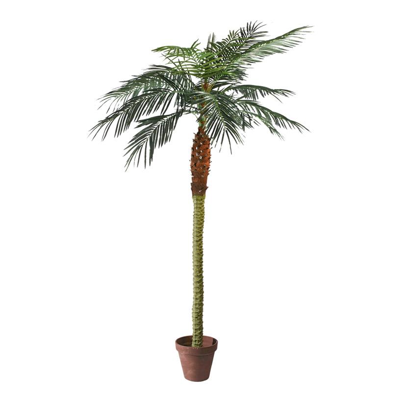 # Phoenix-Palme im Topf, 210cm, 14-fach, 782 Blätter, Kunststoff, Kunstseide