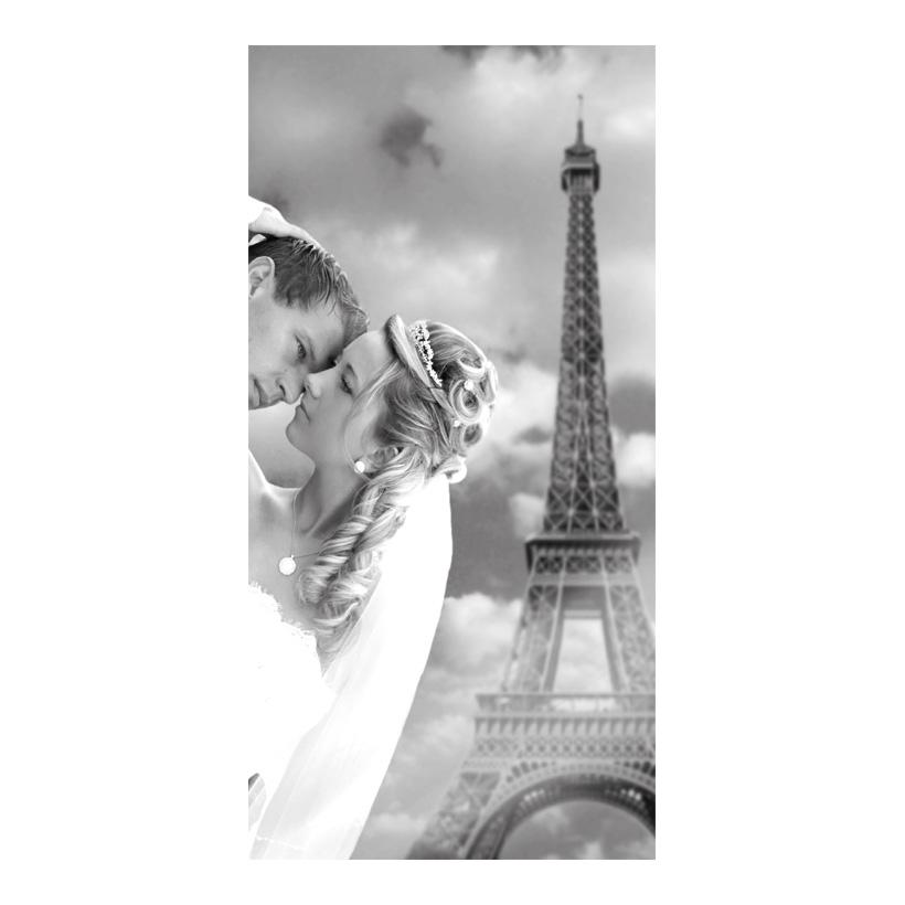 """# Motivdruck """"Verliebt in Paris"""", 180x90cm Stoff"""